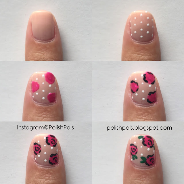 Rose Nail Art Tutorial: Polish Pals: Dainty Rose Nails (+ Tutorial