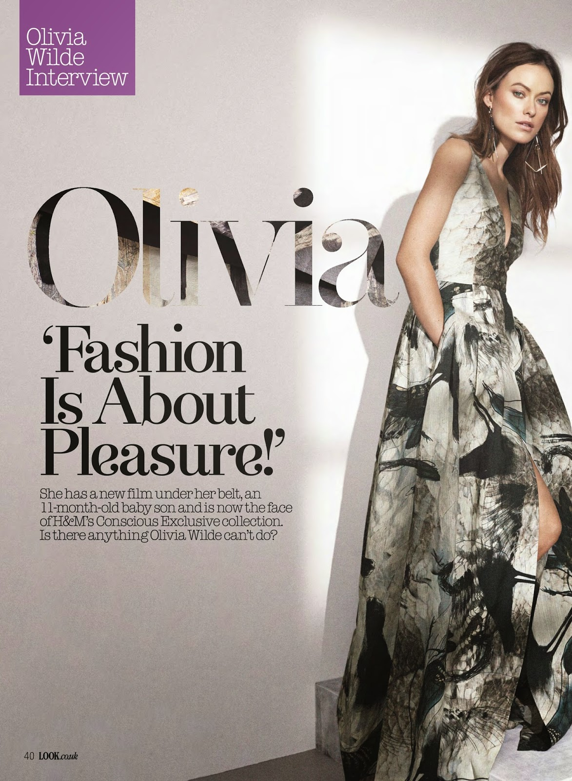 Actress, Producer, Model @ Olivia Wilde - Look USA, March 2015