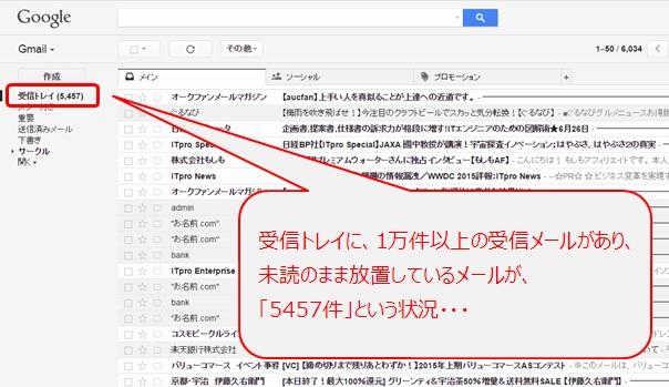 Gmail放置状態