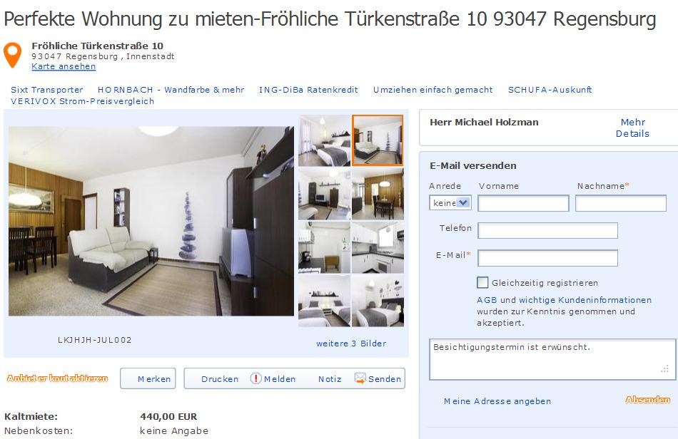 Marbacher str x marbacher 71642 ludwigsburg gegen wohnungsbetrug against rental scammers for Regensburg wohnung mieten