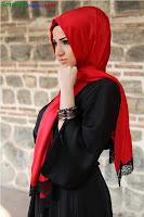 фото хиджаб: красный черный