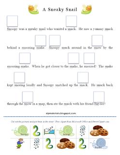 Ms. Lane's SLP Materials: Articulation: S Blends Story Activity ...