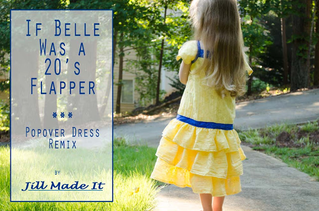 Jill Made It:  If Belle Was a 20's Flapper--a Popover Dress Remix