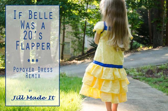 Jill Made It:  If Belle Was a 20's Flapper--a Popover Dress Remix