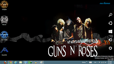 2013 Guns N Roses Windows 8 Theme