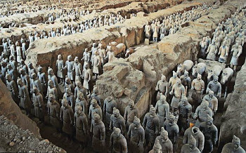 Image of Lifelike Figures of Terracotta Army