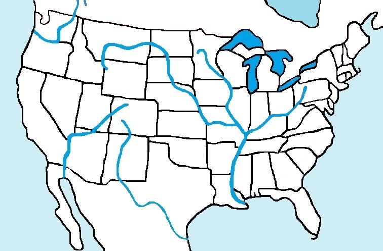 what are the major rivers in the usa