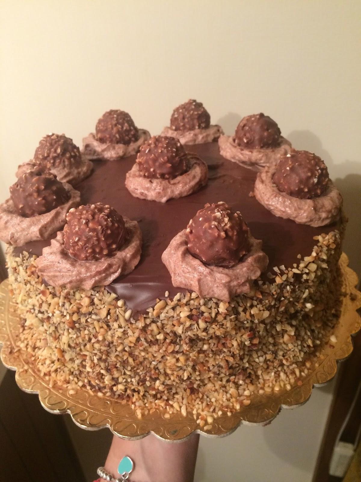 Ferrero Rocher in una torta. - Silvialarosa