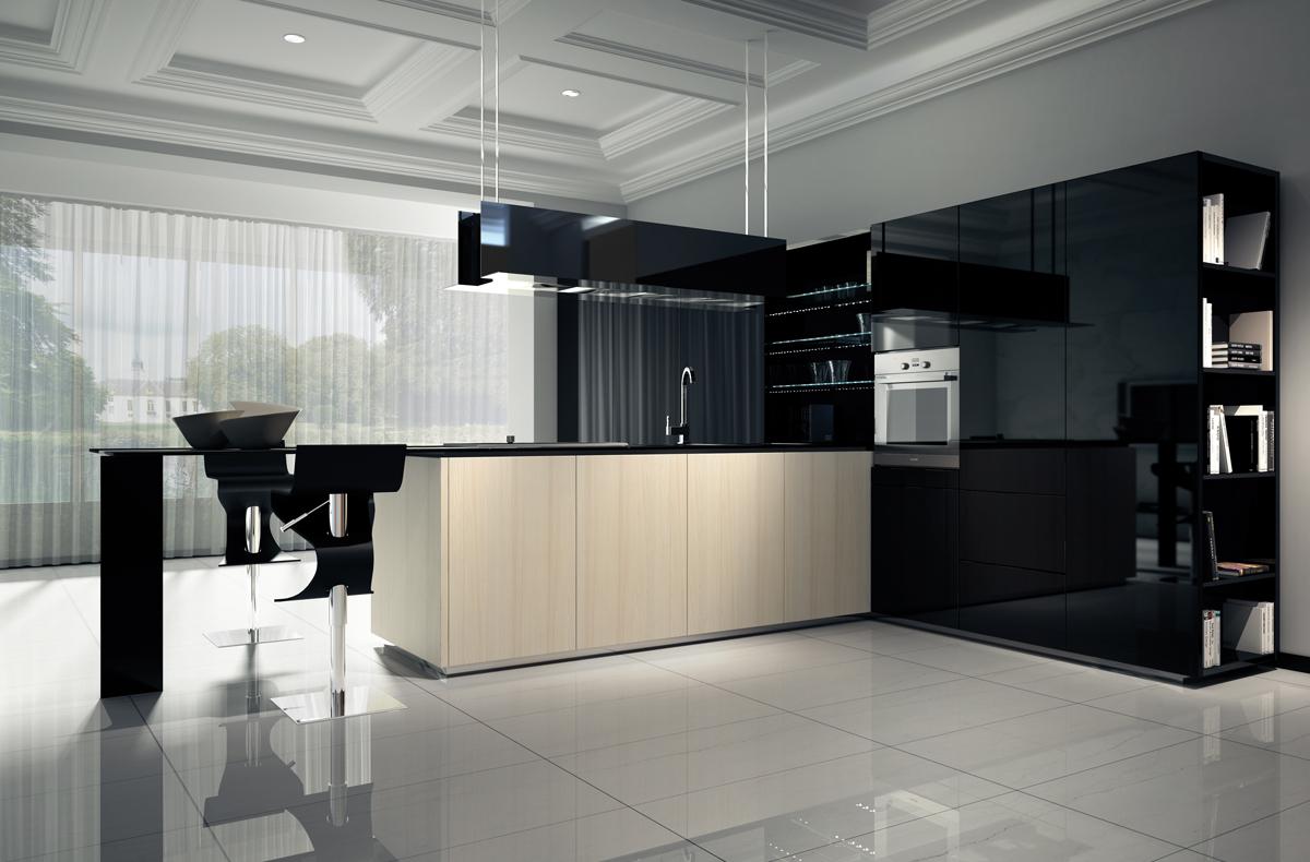 C mo distribuir el espacio en la cocina cocinas con estilo for Cocinas modernas negras