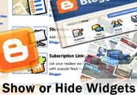 How To Show or Hide Blogger Blog Widgets On Specific Pages