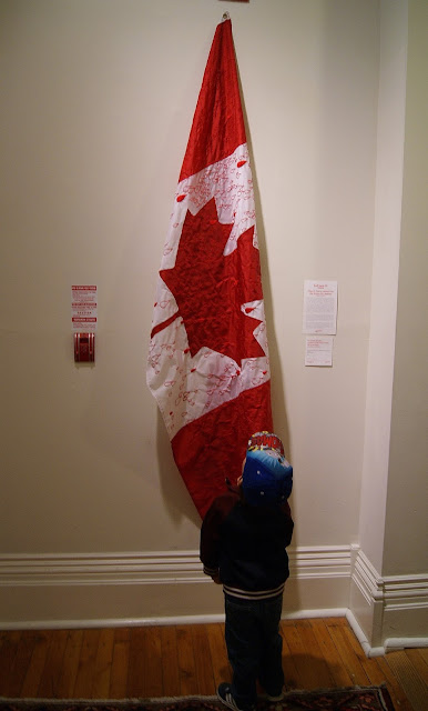 Hard Twist 10: Memory textile art exhibit at Gladstone Hotel in Toronto, culture, artmatters, exhibition, event, ontario, canada, The Purple Scarf, MelaniePs, Flag of Tears: Lament for the Stains of a Nation, Helene Vosters
