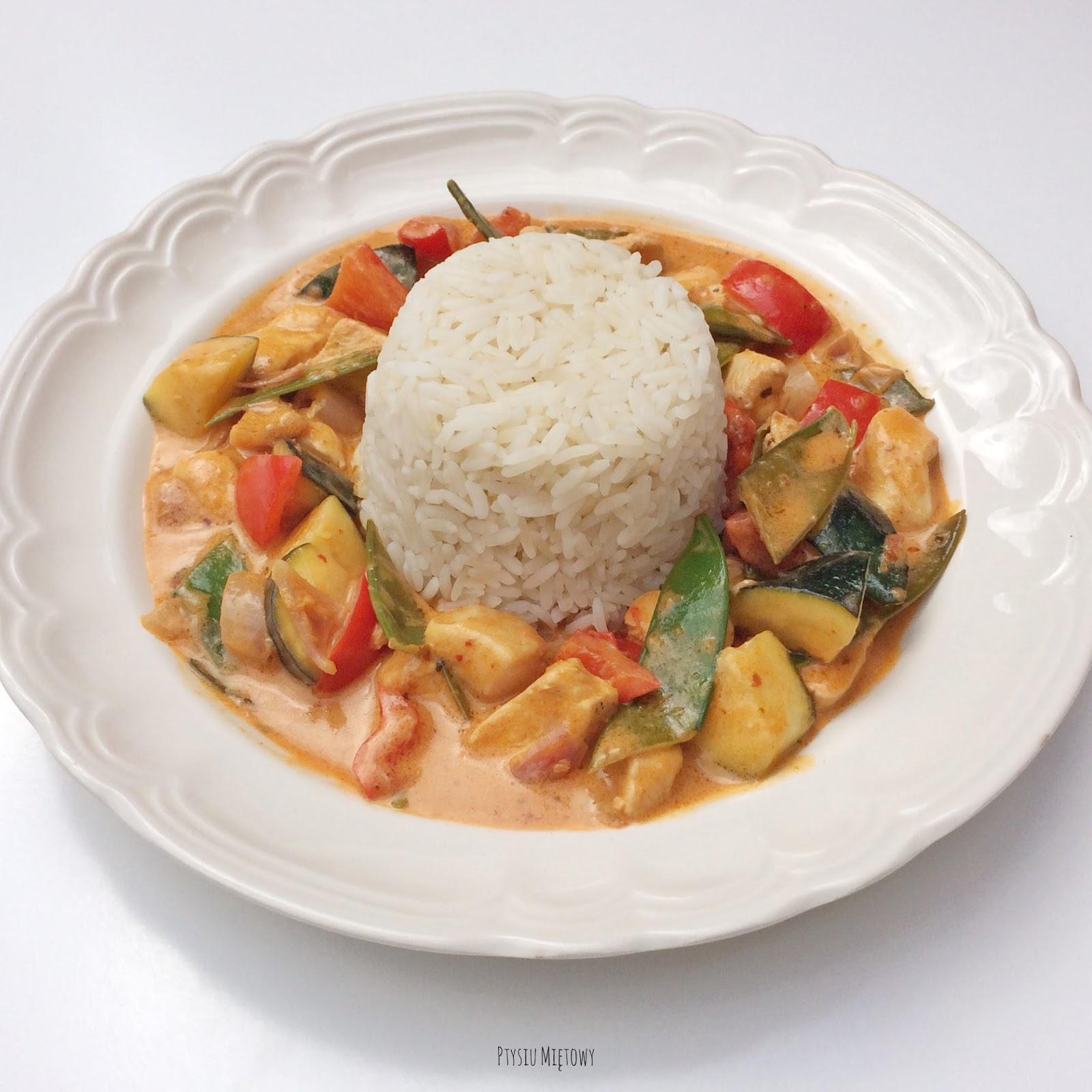 Ptysiu Miętowy, czerwone curry z kurczakiem