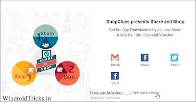 ShopClues Refer Program Stats