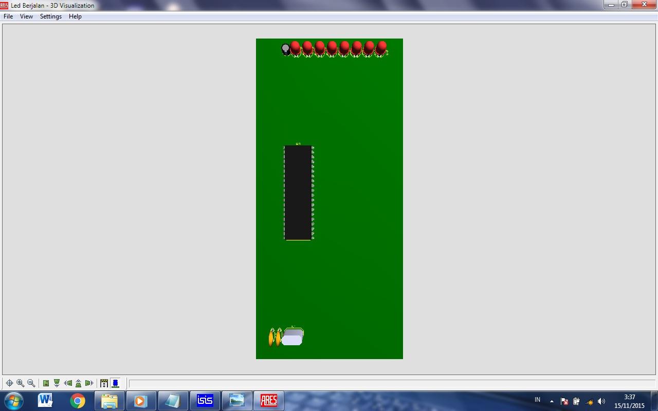 Electrical engineering simulasi running led berjalan