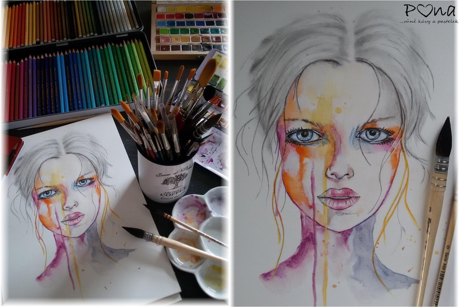 akvarel-portrét