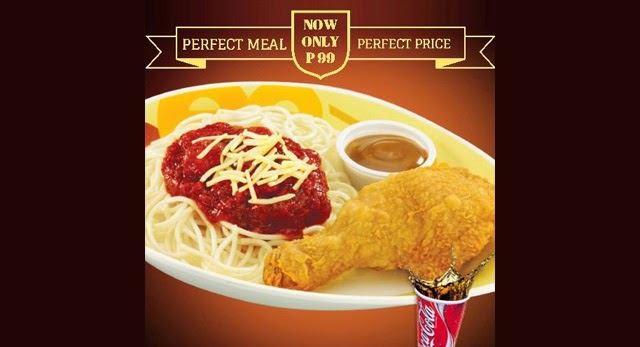 Chickenjoy And Spaghetti Perfect Meal On A Perfect Price Only At