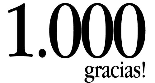 ¡Entrada 1000!, 1000 gracias, 1000 entradas de ubuntu software libre