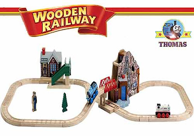 Childrens toy Great Discovery Thomas tank and Friends 35 piece Talking Wooden Railway Series set