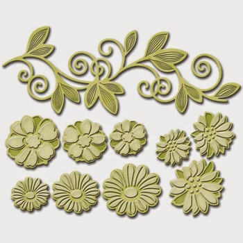Spellbinders Shapeabilities Victorian Garden Flower Bundle SBS6-034