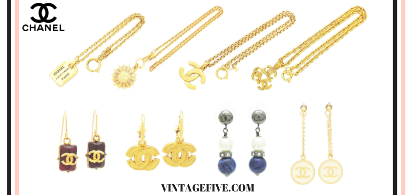 Vintage Five Authentic Chanel Jewelry