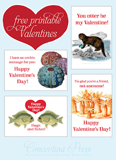 Free Printable Nautical Valentines by Concertina Press