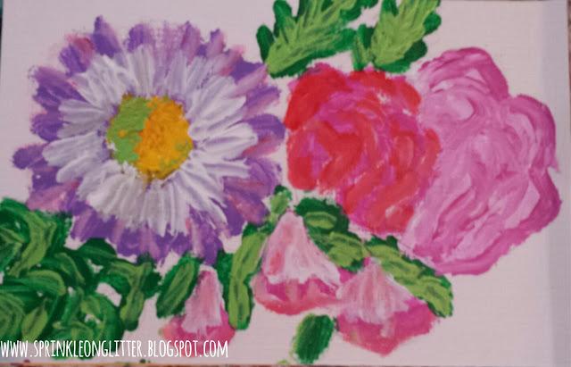 Ladybug- finger painting- write 31 days