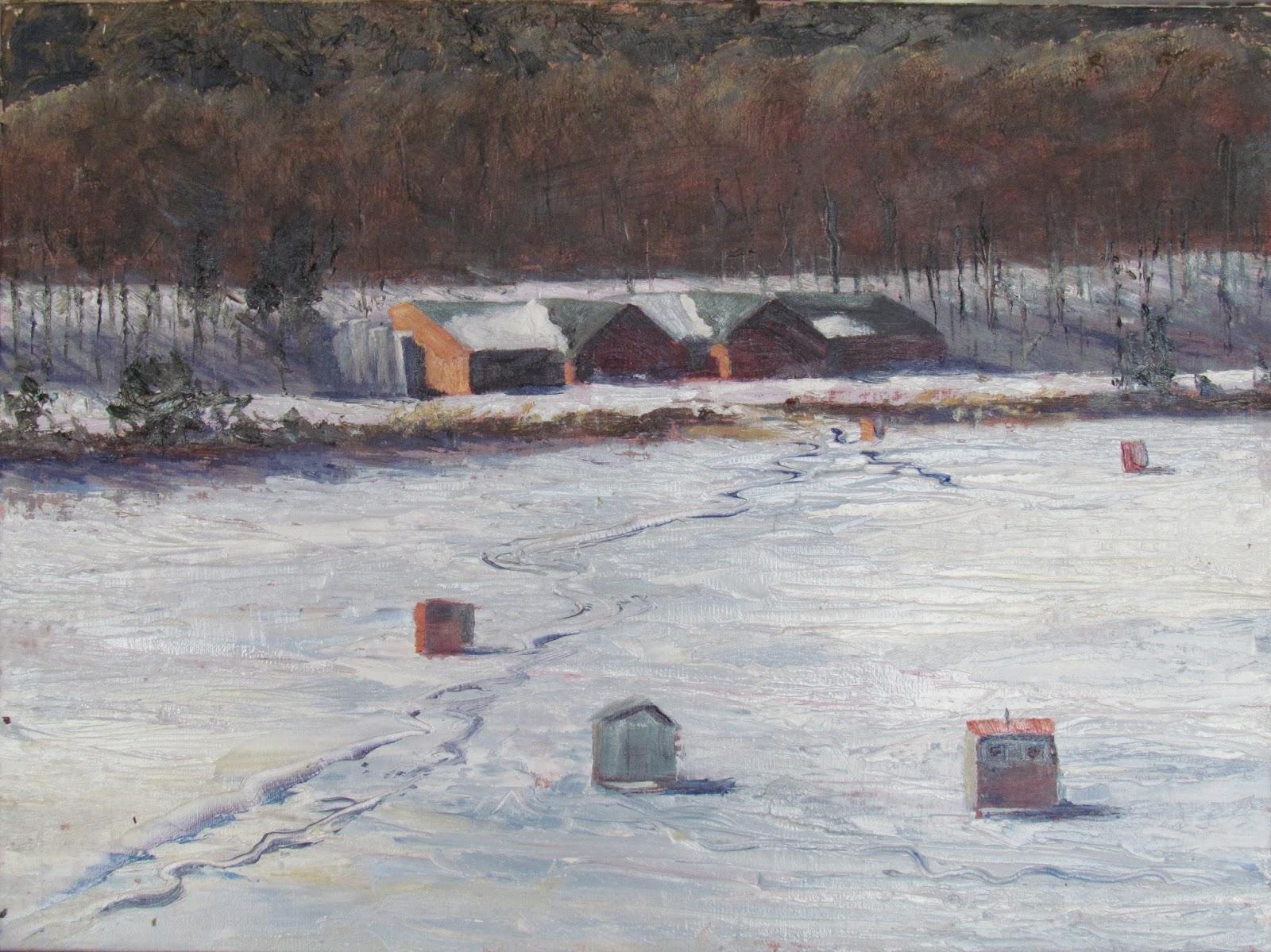 Vezina Art Ice Fishing Shanties In Brattleboro Vt
