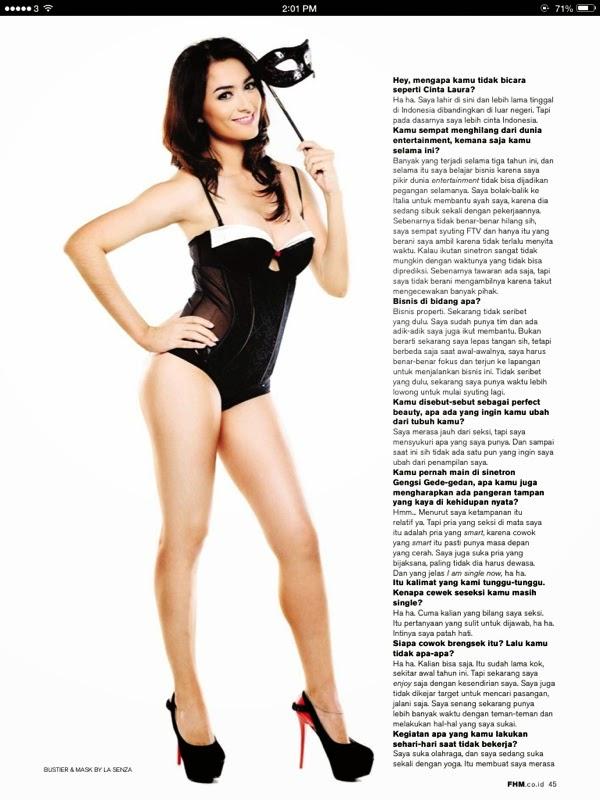 Foto Seksi Marissa Christina di Majalah FHM