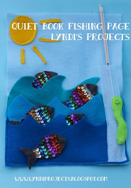 magnetic fishing game for kids, DIY quiet book fishing page