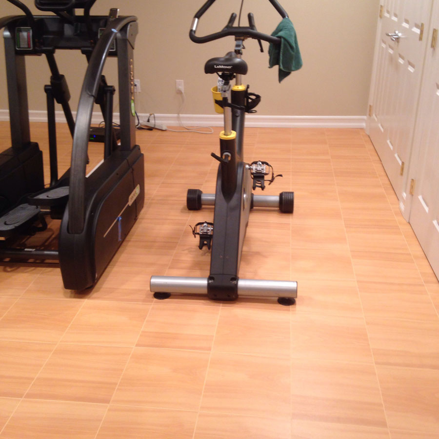 Workout floor tiles
