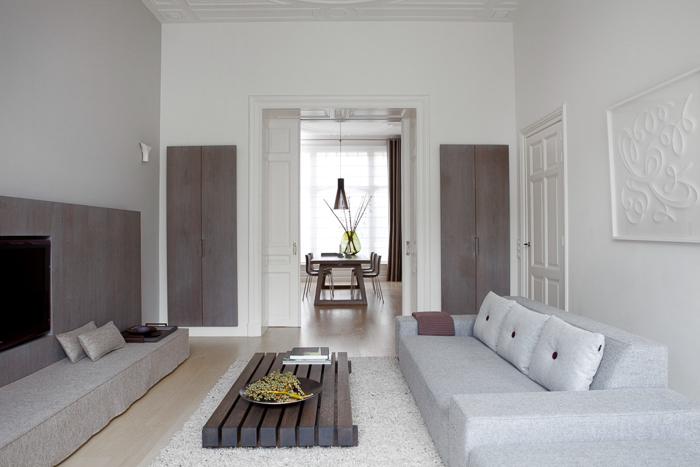Decoración Renovación estilo minimalista de una antigua Mansión de La Haya