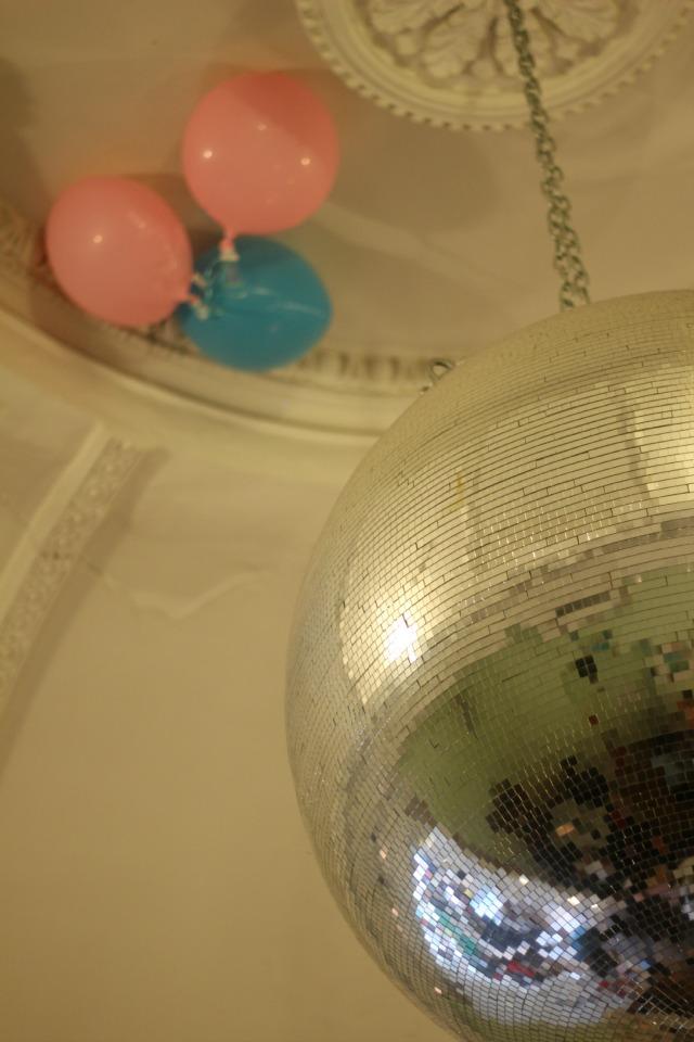 giant disco ball, drink shop do, london, kings cross