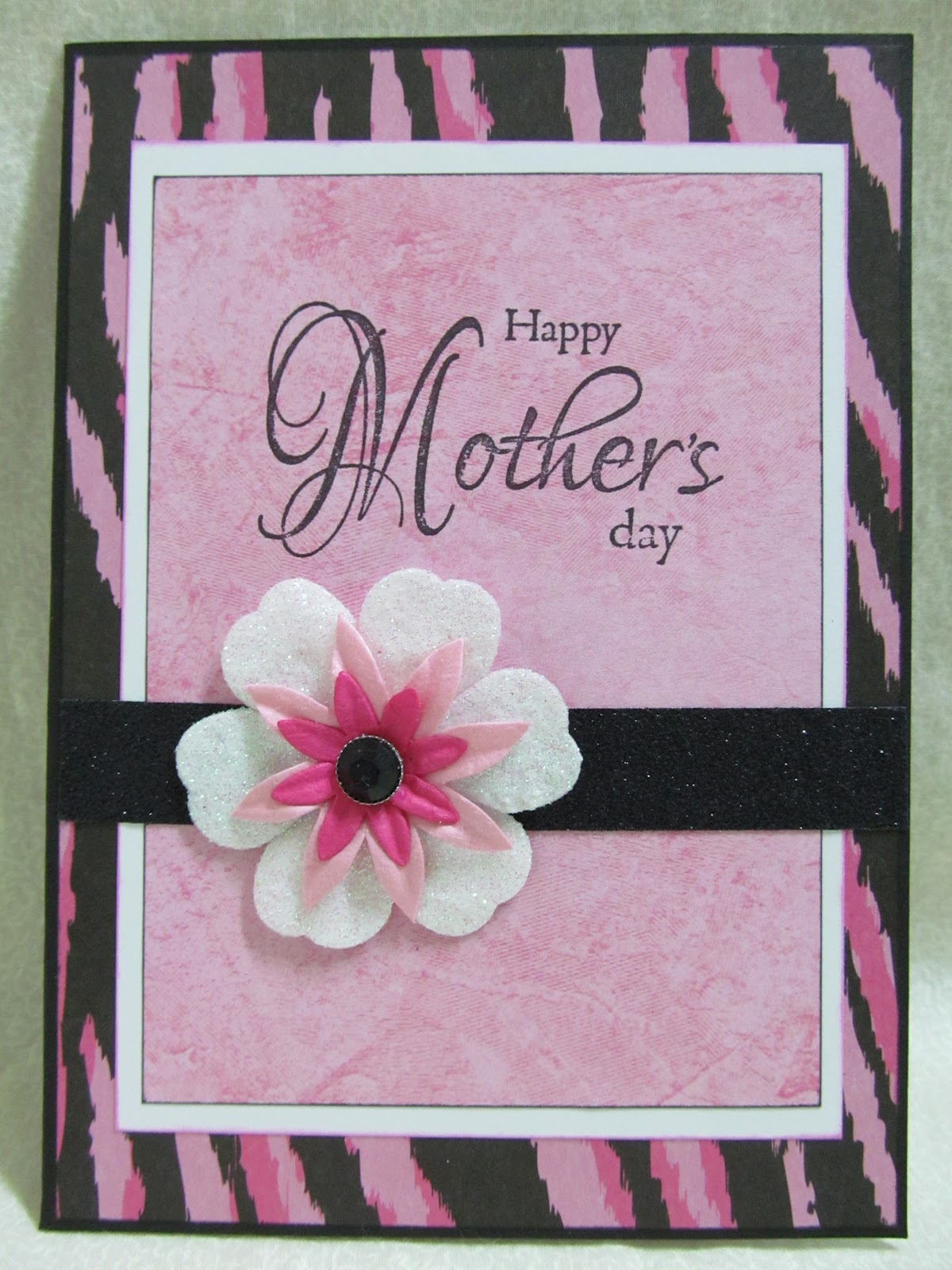 Savvy Handmade Cards Pink Zebra Mother 39 S Day Card