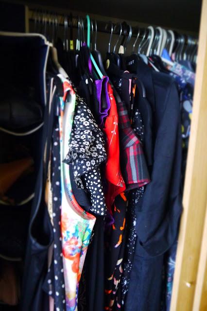 Dresses in the wardrobe