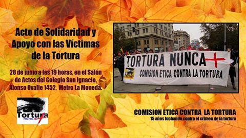 SANTIAGO: ACTO DE SOLIDARIDAD Y APOYO CON LAS VICTIMAS DE LA TORTURA