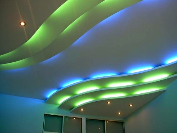 POP false ceiling design for hall, decorative ceiling LED lights