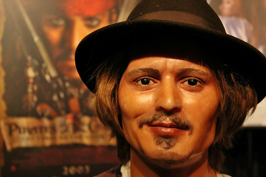 Johnny Depp- The Wax Works: Newport, Oregon (Mariner's Square)