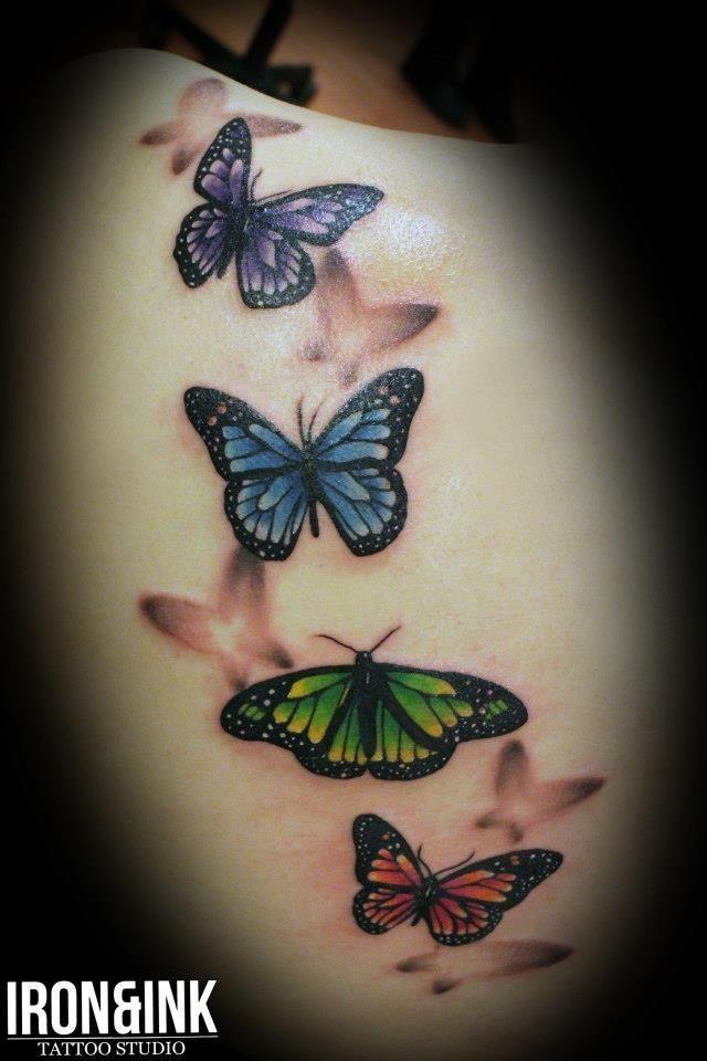 Realistic tattoo butterflies1