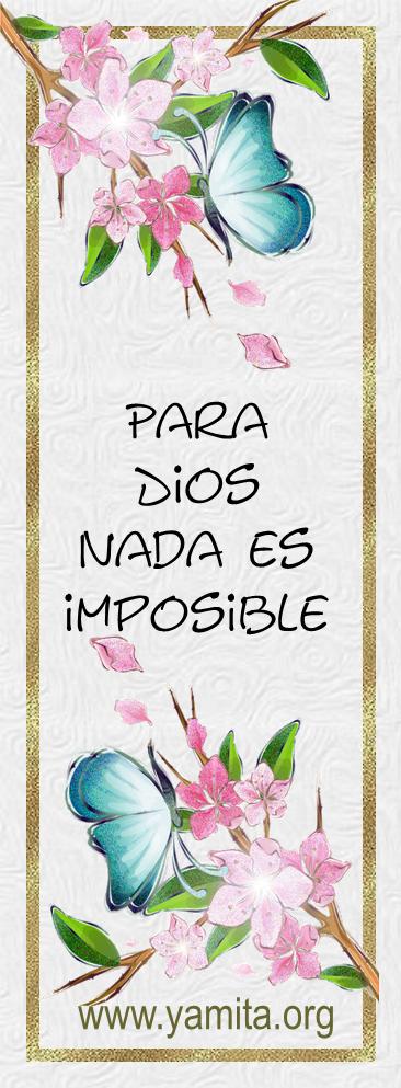 Para Dios nada es imposible