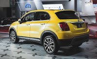 2016 NEw Fiat 500X comvetible cars back show view