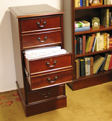 3-drawer wood file cabinet