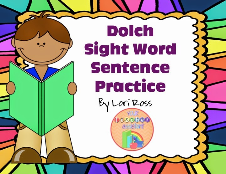 https://www.teacherspayteachers.com/Product/Dolch-Sight-Word-Sentence-Practice-1667920