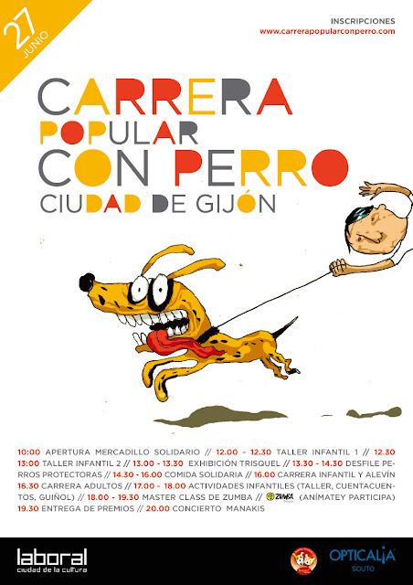 Asturias con niños: Carrera con perro en Gijón