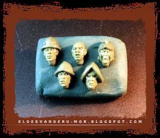 Piezas de cabezas para las miniaturas del Impero o los tercios de Gamezone, diseñadas y esculpidas por ªRU-MOR a escala warhammer fantasy