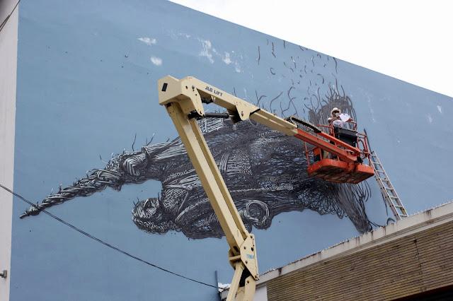 Street Art By Chinese Artist DALeast For Los Muros Hablan '13 In Puerto Rico. 4
