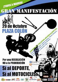 MANIFESTACION EN MADRID POR LA DEFENSA DE LA MOTO DE CAMPO