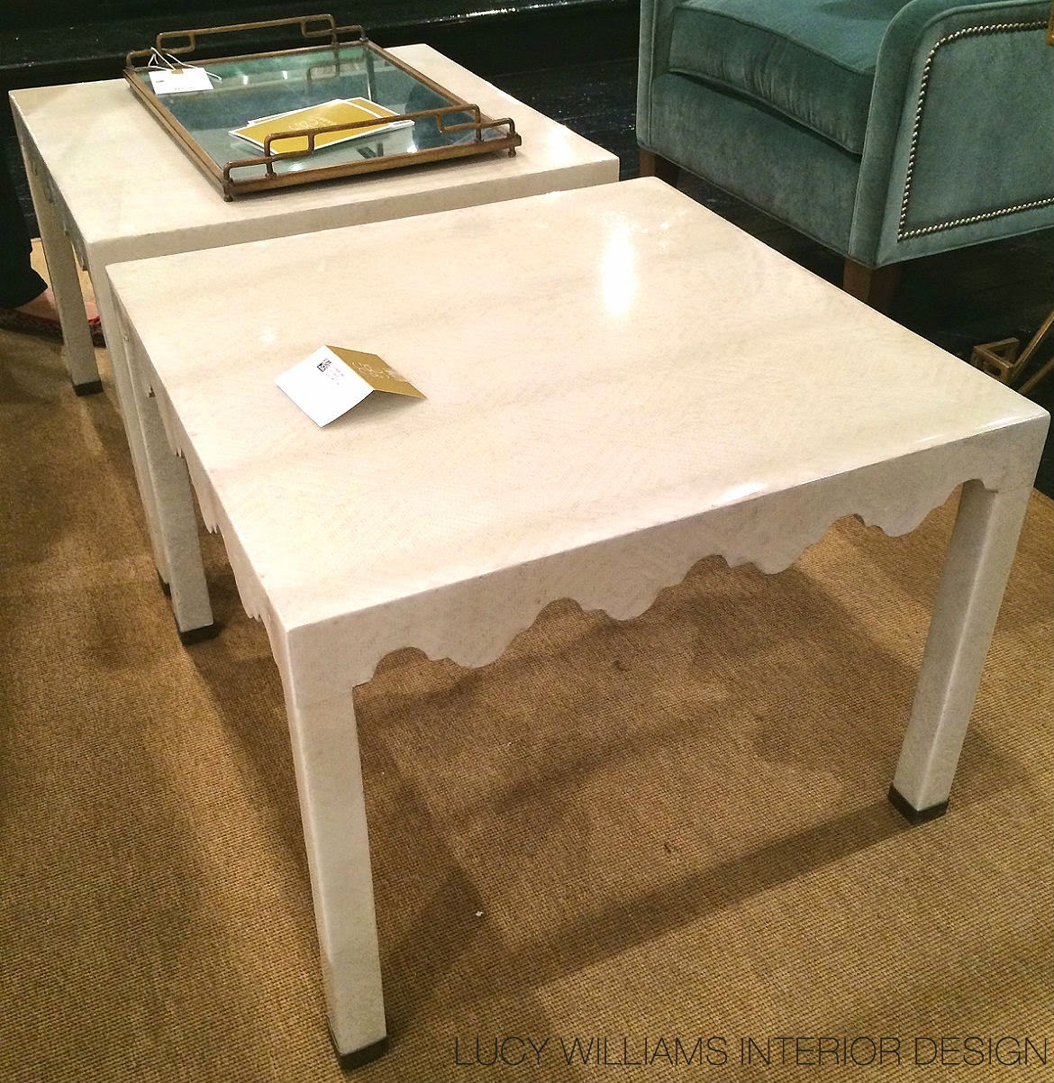 Lucy Mirrored Coffee Table: LUCY WILLIAMS INTERIOR DESIGN BLOG: HIGH POINT HEAVEN