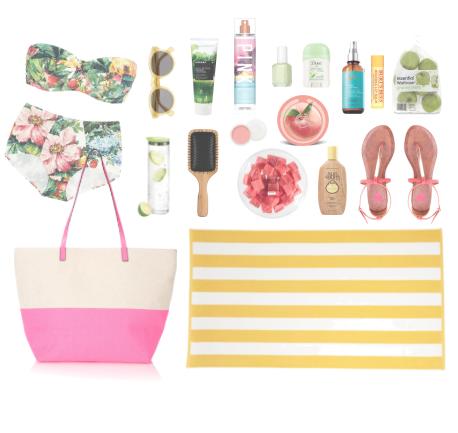 beach bag essentials fashion design webdesign