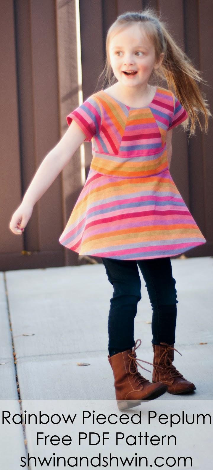 Colorful Dress sewing Pattern