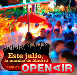 cartel madrid open air
